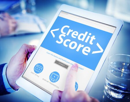 Digital Online Credit Score Finance Rating Record Concept