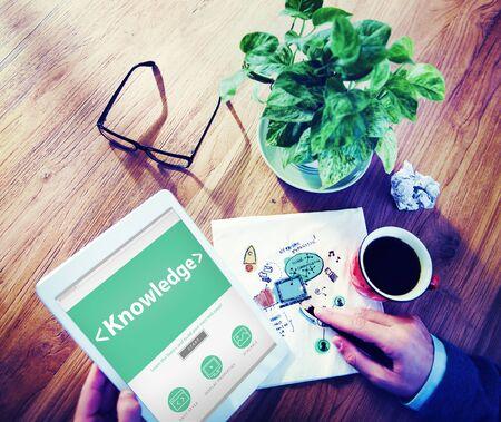 inteligent: Digital Online Internet Knowledge Office Working Concept Stock Photo