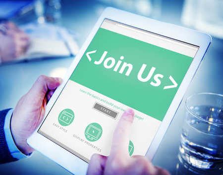 Digital Online Join us Business Office Working Concept photo