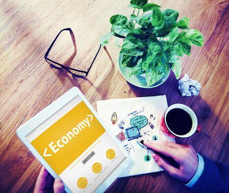 flujo de dinero: Econom�a Digital Online Finanzas Cash Flow Oficina Concepto