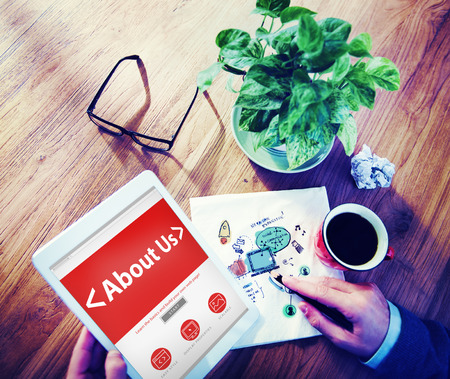 Digital Online Information About us Business Concept