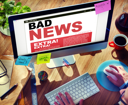 bad news: Digital Online Update Bad News Concept