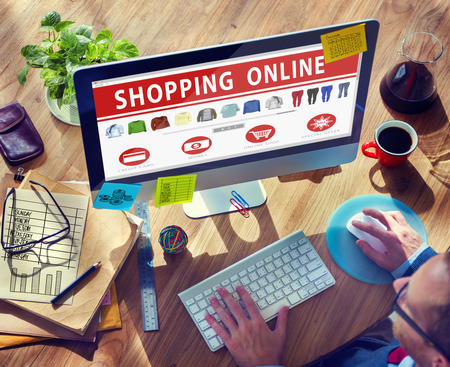 online shopping: Digital Online Shopping E-Commerce Purchase Buying Browsing Concept