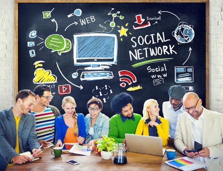social network: Social Network Social Media People Learning Education Concept