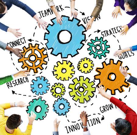 team vision: Team Teamwork Goals Strategy Vision Business Support Concept