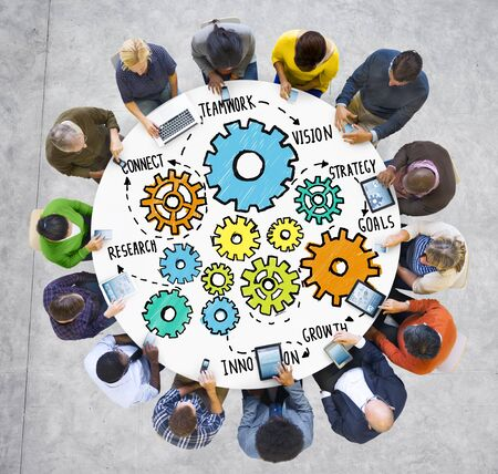 research team: Team Teamwork Goals Strategy Vision Business Support Concept