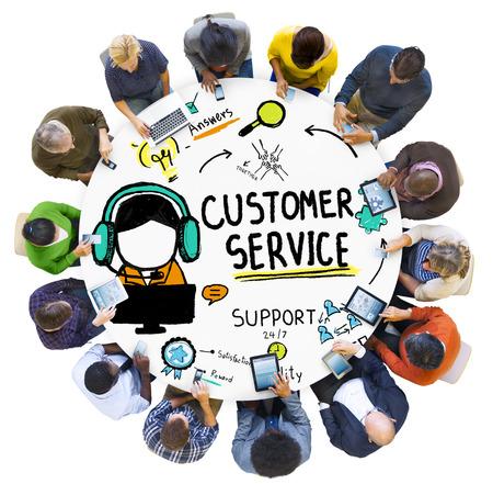 Service à la clientèle Assistance Service Aide Guide Concept