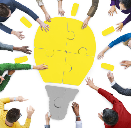 sharing: Diversity Casual People Brainstorming Ideas Sharing Support Concept Stock Photo