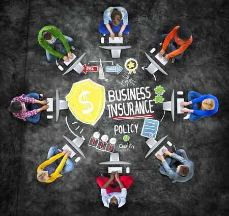 Multiethnic People Global Communication Risk Business Insurance Concept photo