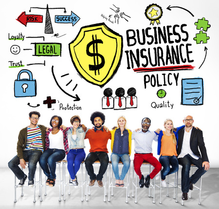 Multiethnic People Team Togetherness Risk Business Insurance Concept photo