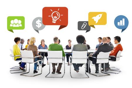 Rozmanitost Lidé Diskuse Barinstorming komunikační koncept