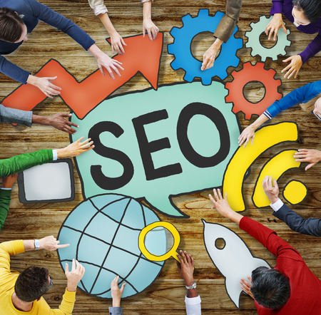 SEO Online Search Engine Optimization Internet-Konzept Standard-Bild - 39111520