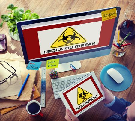outbreak: Ebola Outbreak Digital Device Internet Wireless Searching Concept