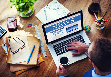 検索ニュース概念を接続するデジタル通信