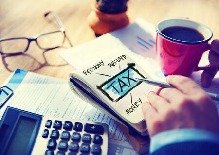 refund: Businessman Tax Economy Refund Money Concept