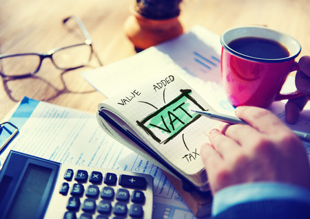 Value Added Tax VAT Finance Taxation Accounting Concept Foto de archivo