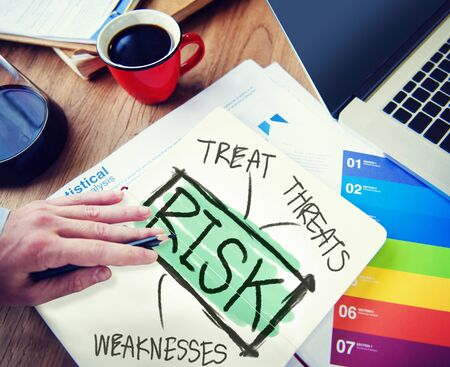 weaknesses: Businessman Risk Treat Threats Weaknesses Concept