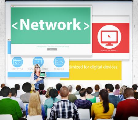 rete di computer: Network computer Collegamento Seminario Learning Pubblico Concetto Web