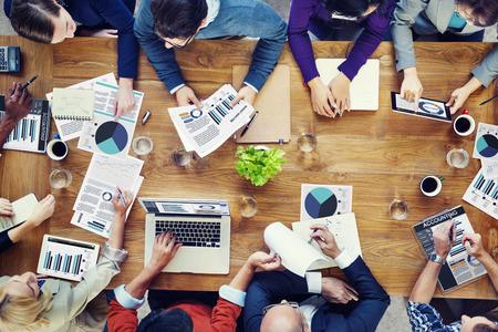 Análise de Marketing Contabilidade Trabalho Em Equipe Conceito Negócios Reunião
