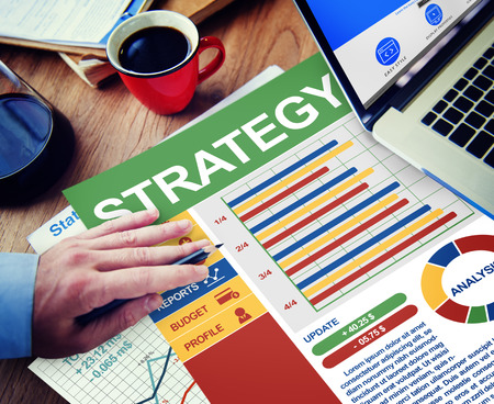 strategic plan: Strategy Businessman Working Calculating Thinking Planning Paperwork Concept Stock Photo