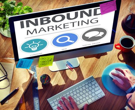 inbound: Inbound Marketing Commerce Content Social Media Concept