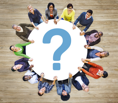 Punto interrogativo FAQ risposta Informazioni Suggerimento Aiuto Feedback Concetto Archivio Fotografico - 39111773