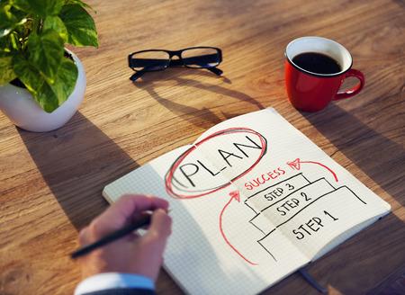 Concepto de Trabajo de Planificación Estrategia Éxito Plan de Negocios