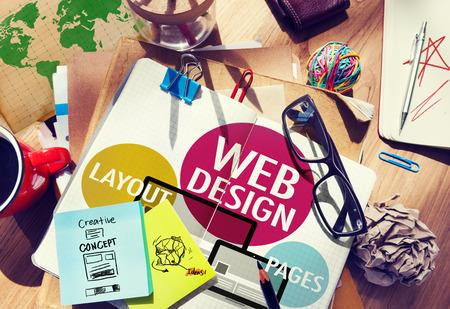 bureau design: Web Design Contenu cr�atif concept de site Web Responsive Banque d'images