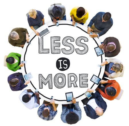 less: Less is More Minimal Simplicity Efficient Complexity Concept Stock Photo