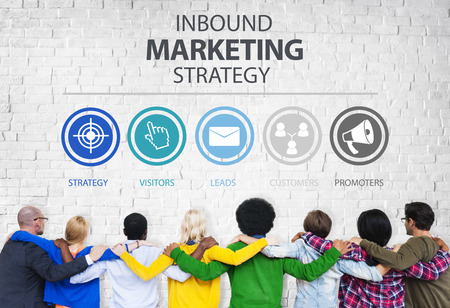 Inbound Marketing Strategy Advertisement Commercial Branding Concept Banco de Imagens