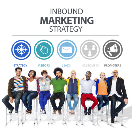 Inbound Marketing Strategy Advertisement Commercial Branding Concept photo