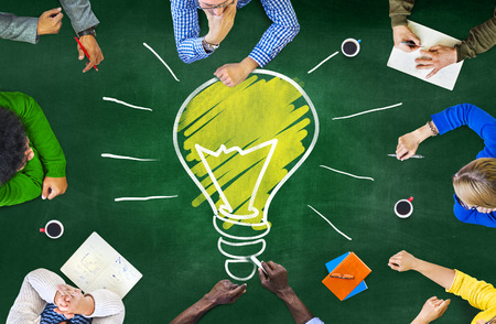 knowledge: Ideas Thoughts Knowledge Intelligence Learning Thoughts Meeting Concept Stock Photo
