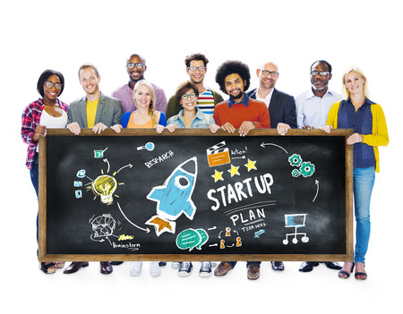 Start Up Business Launch Success Students Education Concept photo