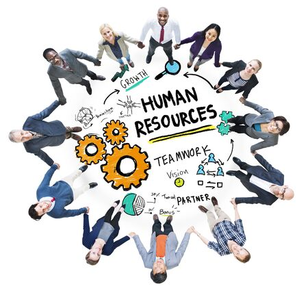 Human Resources Employment Teamwork Business People Support Concept photo