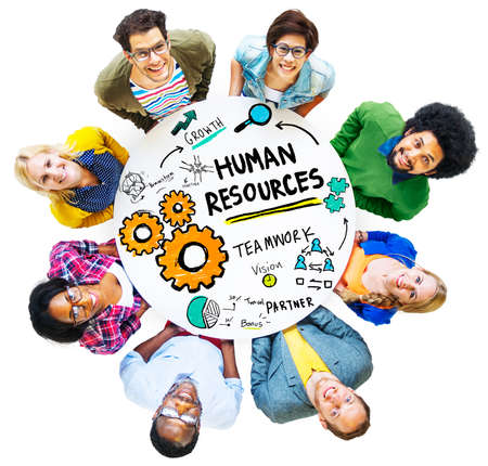 Human Resources Employment Job Teamwork People Diversity Concept photo