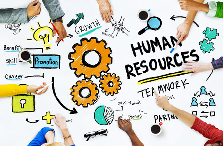Human Resources Employment Job Teamwork Office Meeting Concept Фото со стока