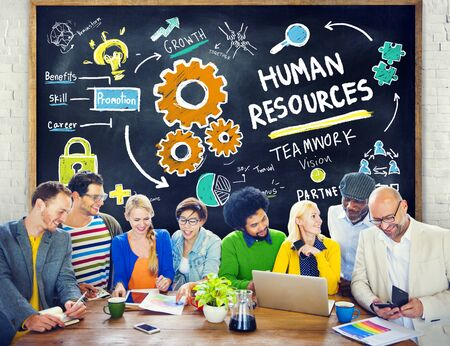 Human Resources Employment Teamwork Study Education Learning Concept photo
