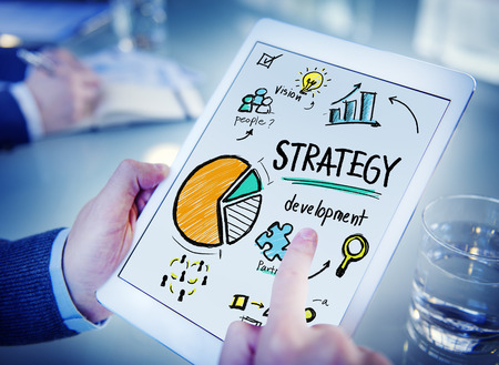 vision: Strategy Development Goal Marketing Vision Planning Hand Concept