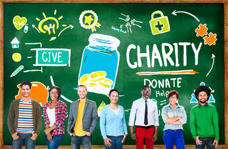 give charity: People Team Togetherness Give Help Donate Charity Concept