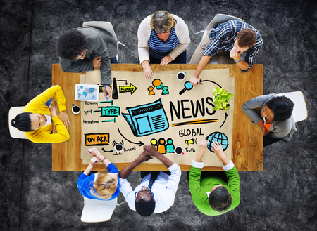 News Journalism Information Publication Update Media Advertisment Concept photo