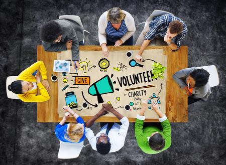 Vrijwilliger Liefdadigheidswerk Donatie Help Concept