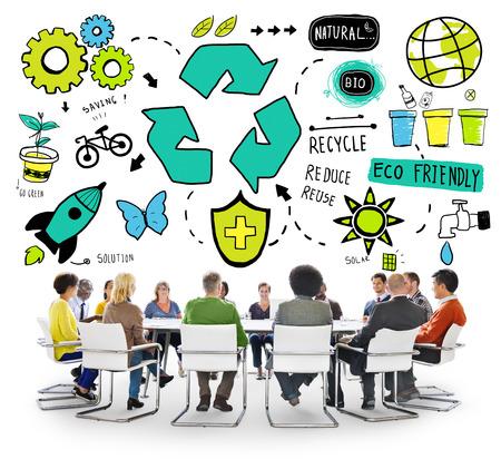 environmental conversation: Recycle Reuse Reduce Bio Eco Friendly Environment Concept