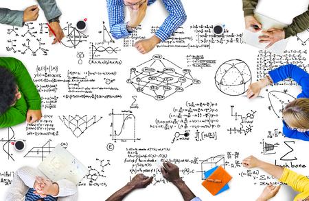 mathematics: Formula Mathematics Equation Mathematical Symbol Geometry Information Concept Stock Photo