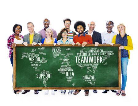 zweisamkeit: Spezialisten Freunde Teamwork Unterst�tzung Zusammenhalt Konzept