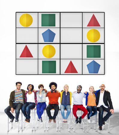 Sudoku Puzzle Problem Solving Leisure Games Concept photo