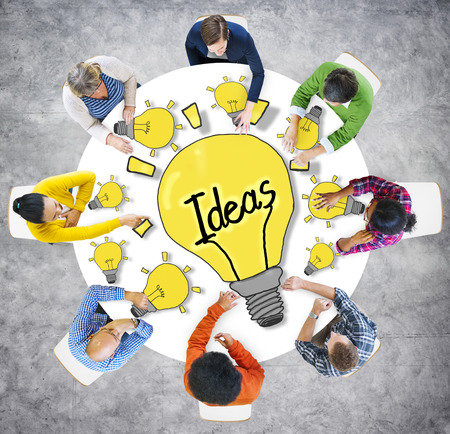 Aerial View People Ideas Breaking New Ground Concepts photo