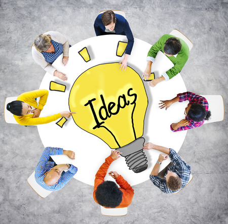 breaking new ground: Aerial View People Ideas Breaking New Ground Concepts Stock Photo
