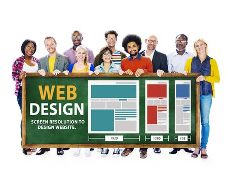 Web Design Network Website Ideas Media Information Concept photo
