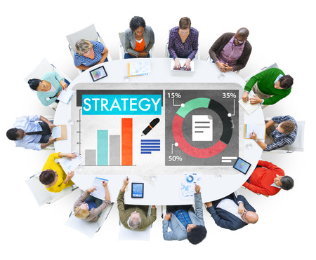 group strategy: Multi-ethnic group strategy concept