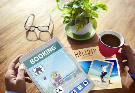 online: Summer Occasion Online Booking Digital Tablet Concept